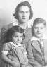 1940 L-R Mary Rogers Collins holding Elizabeth Collins and Edward J Collins, Jr