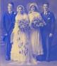 1932 Wedding L-R Ed Collins Sr, Mary Rogers, Julia Collins, John Rogers